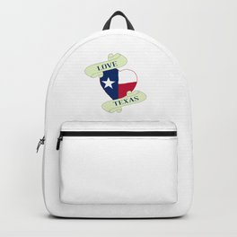 Love Texas Heart And Scroll Backpack