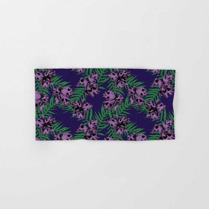 Orchid Skulls Hand & Bath Towel