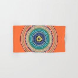 Bright Orange Mandala Hand & Bath Towel