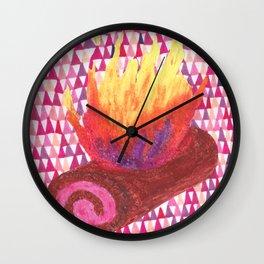 Roll cake/fire log Wall Clock