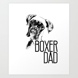 Mens BOXER DAD DOG FACE T-SHIRT - DOG LOVERS BOXER DAD GIFT SHIRT Art Print