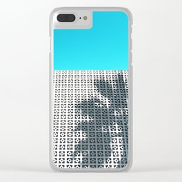 Parker Palm Springs with Palm Tree Shadow Clear iPhone Case