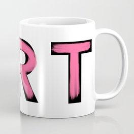 Minimalist Art Pink Brush Strokes Coffee Mug