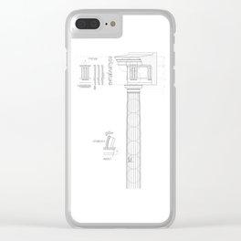 Rman doric order type 2 Clear iPhone Case