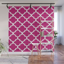 Arabesque Architecture Pattern In Dull Pink Wall Mural
