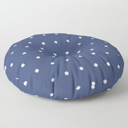 Blue And White Dots Floor Pillow