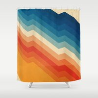 pink floyd Shower Curtains featuring Barricade by Tracie Andrews