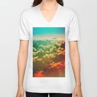 pilot V-neck T-shirts featuring Pilot Jones by Daniel Montero