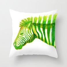 Zebra Watercolor Print Throw Pillow