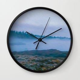 North Shore Fog Wall Clock