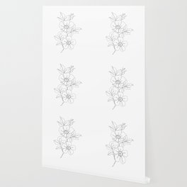 Floral one line drawing - Rose Wallpaper