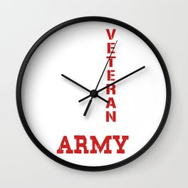 Veteran of the United States Wall Clock