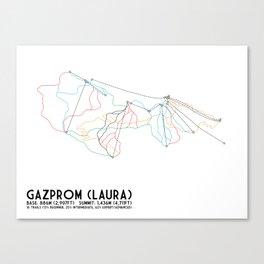 Gazprom (Laura) Mountain Resort, Sochi, Russia - European Edition - Minimalist Trail Art Canvas Print