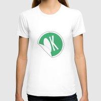 sticker T-shirts featuring OK Sticker by Chad De Gris