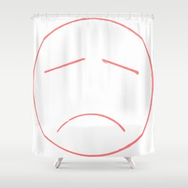 Unsmile Shower Curtain