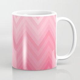 Fading Pink Chevron Coffee Mug