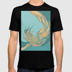 Abstraction Black MEDIUM Mens Fitted Tee