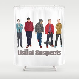 The Usual Suspect casual fashion style Shower Curtain