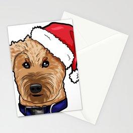 Irish Soft Coated Wheaten Terrier Dog Christmas Hat Stationery Cards