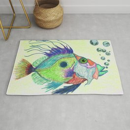 Funky Fish Art - By Sharon Cummings Rug