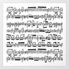 Sheet Music Art Print