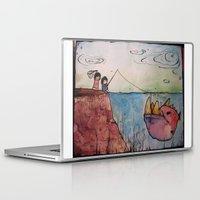 doom Laptop & iPad Skins featuring Impending Doom by Elise Leutwyler