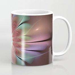 Abstract Fantasy Flower, Fractal Art Coffee Mug