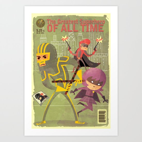 kick ass fan art 2 Art Print
