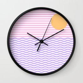 Coastline (Sunset Pink) Wall Clock