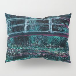 Monet The Water Lily Pond Teal Purple Pillow Sham