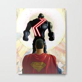 SUPERMAN VS DARKSEID Metal Print