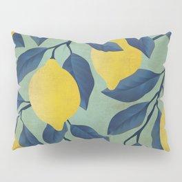 Vintage Lemon Branches on Mint Pillow Sham