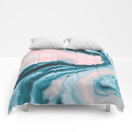 Pink and blue tide Comforters