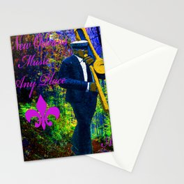 NEW ORLEANS JAZZ TROMBONE LET THE GOOD TIMES ROLL!! Stationery Cards