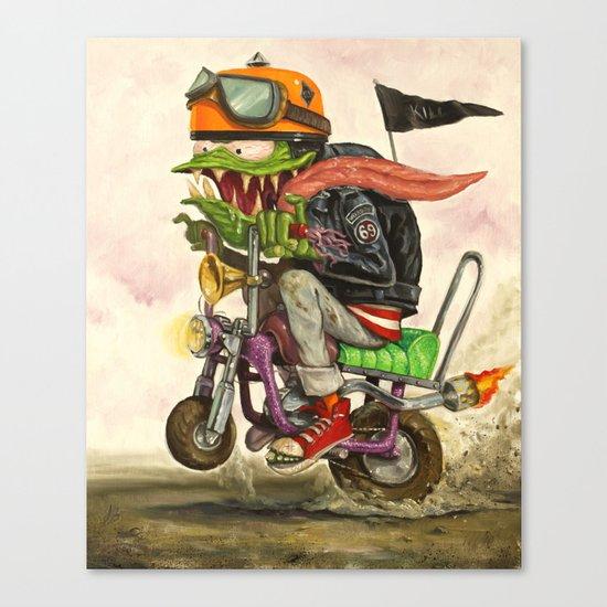 Minibike Weirddoh Canvas Print