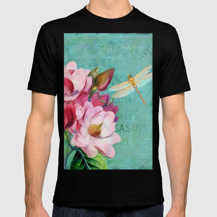 Verdigris Pink Magnolias T Shirt By Glimmersmith Society6