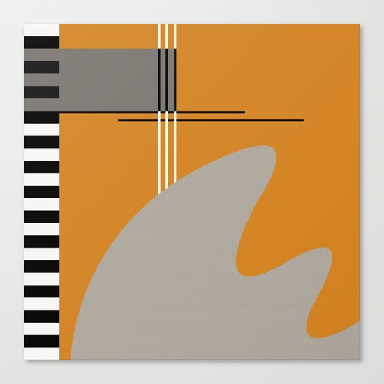 ABSTRACT IN ORANGE Canvas Print