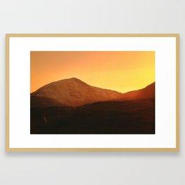 Y Llethr Sunset Framed Art Print