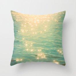 Showering in Sparkling Sunshine Throw Pillow