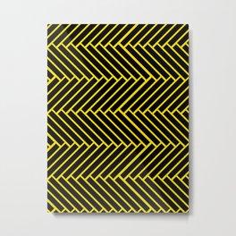 Criss-Cross Metal Print