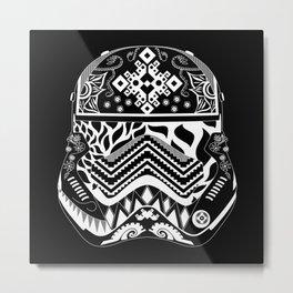 Black Fighter trooper Metal Print