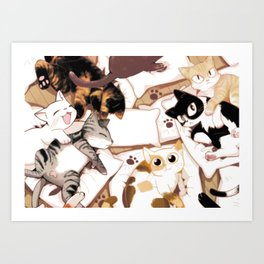 Let's Meow Together Art Print