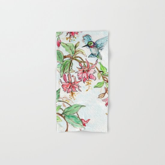 Honeysuckle Hummingbird Hand & Bath Towel