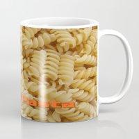 pasta Mugs featuring I Love Pasta by Elke Balzen