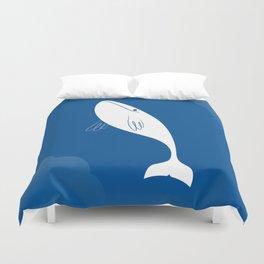 Flying Whale Duvet Cover