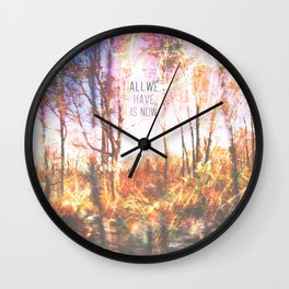 This is only Temporary by Debbie Porter Wall Clock