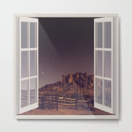 Night Sky Stars | OPEN WINDOW ART Metal Print