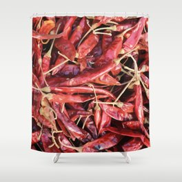 Chili Chipotle red hot Shower Curtain