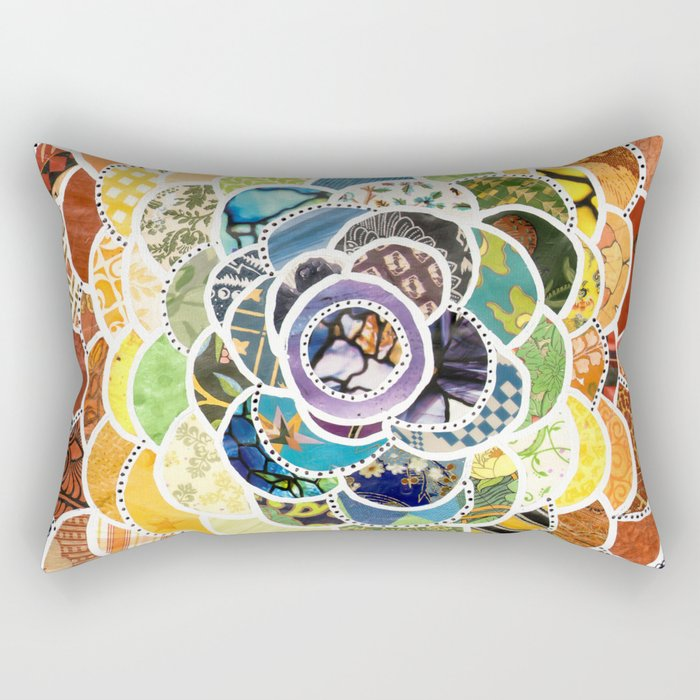 Rainbowbloom Rectangular Pillow
