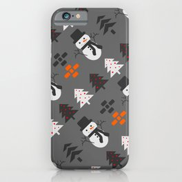 Snowmen and trees iPhone Case